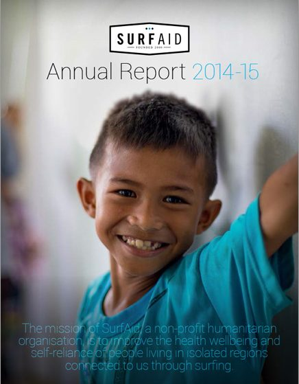 SurfAid Annual Report 2014-15